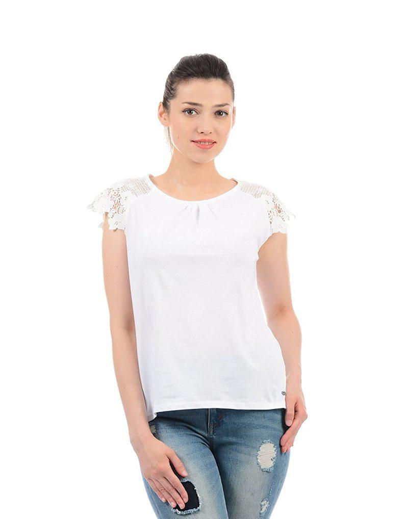 Pepe Jeans Women's Plain Regular fit T-Shirt