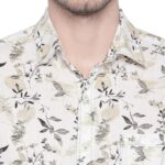 Mufti Full Sleeves Floral Printed Casual Shirt