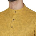 Manyavar Self Design Knee Long Full Sleeves Kurta For Men