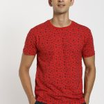 Red Flame Red Printed T-Shirt