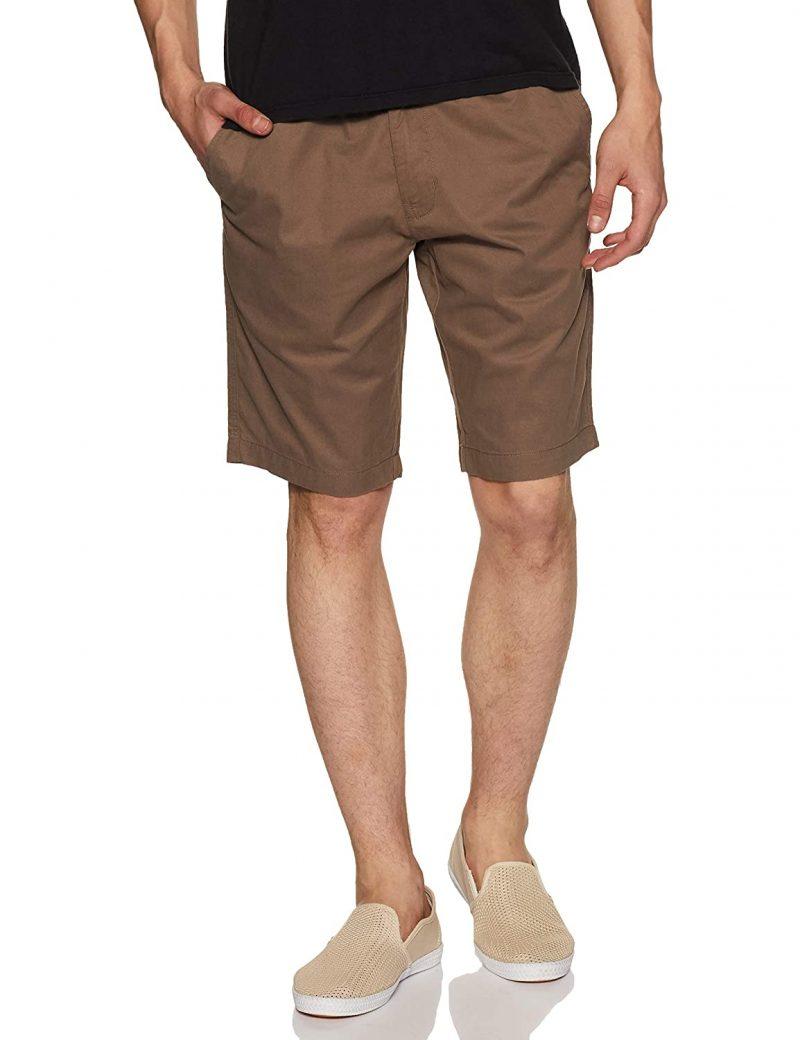 Jockey Men's Regular Fit Shorts Dark Khaki