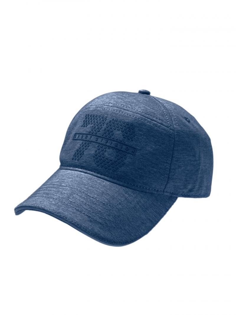 Jockey Navy Blue Self Design Cap