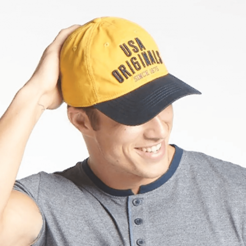 Jockey Yellow Embroidered Cap