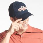 Jockey Navy Blue Embroidered Cap
