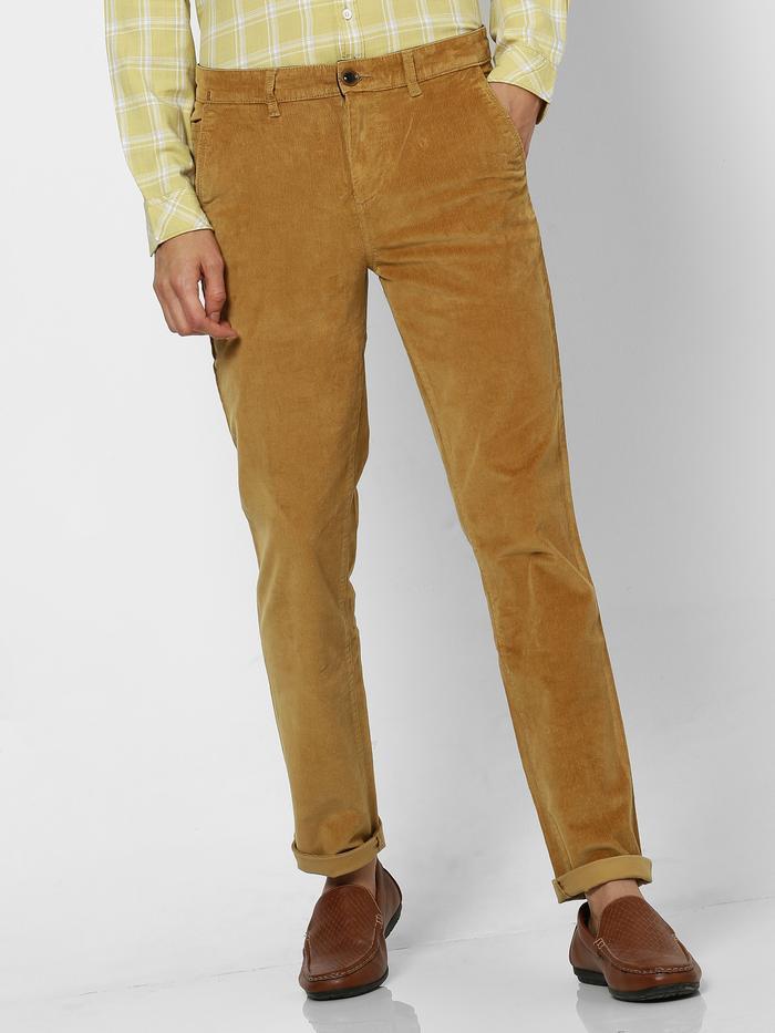 Khaki Plain Stretch Lean Fit Trouser