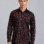 Brown Printed Shirt