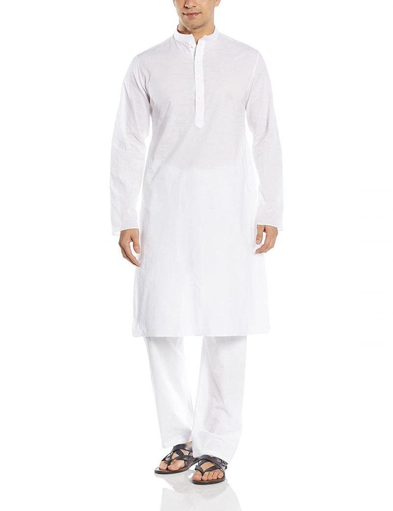 Manyavar Men's Cotton Kurta & Pyjama Set (M201002)