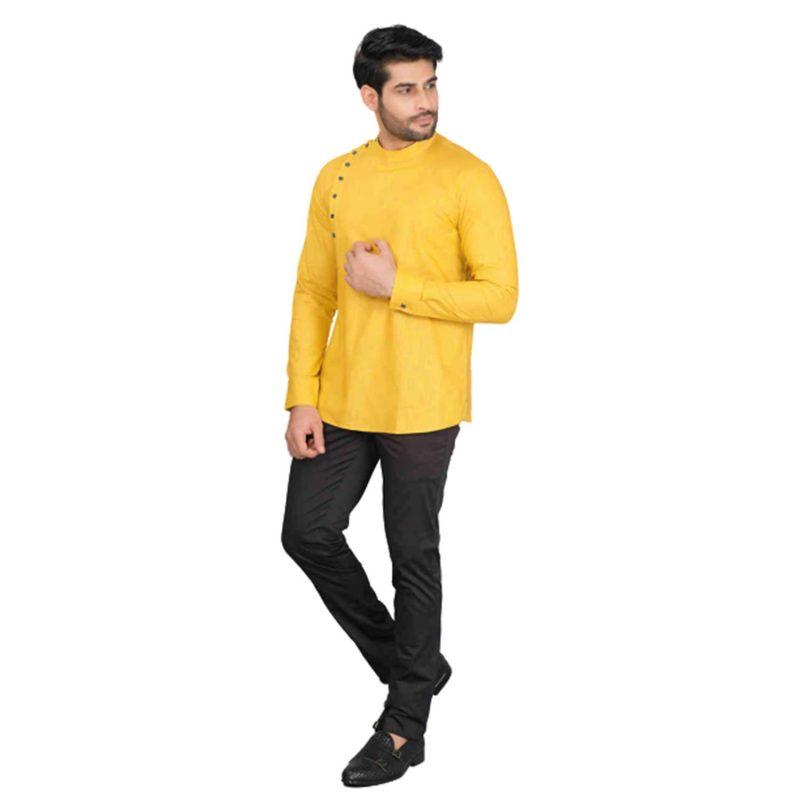 Manyavar Men's Silk Blend Regular Kurta