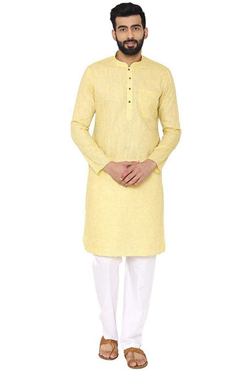 Manyavar Men's Silk Kurta