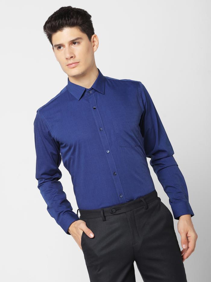 Navy Plain Formal Shirt
