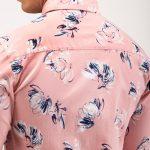 Pink Stretch Printed Shirt