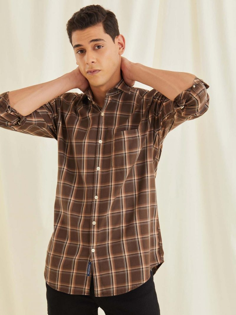 Khakhi Checked Shirt