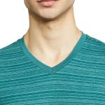 Jockey Men's Striped Regular Fit T-Shirt Pacific Green