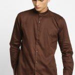 Brown Plain Party Wear Shirt