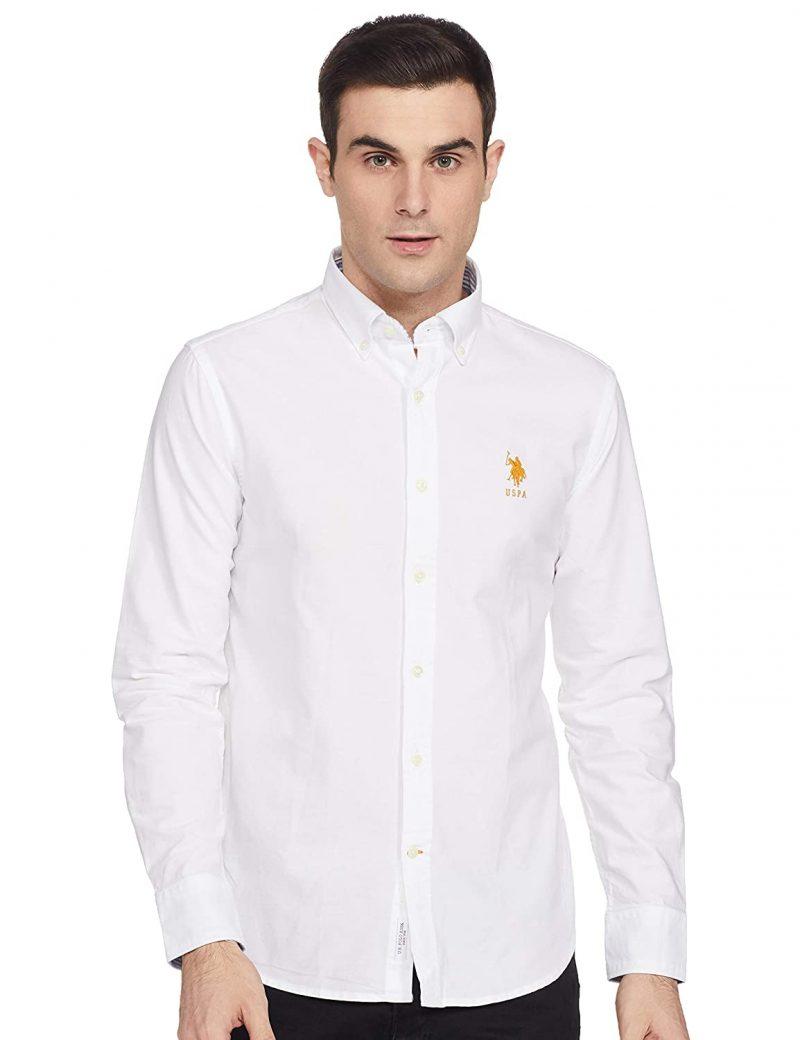 USPOLO Men's Regular fit Casual Shirt